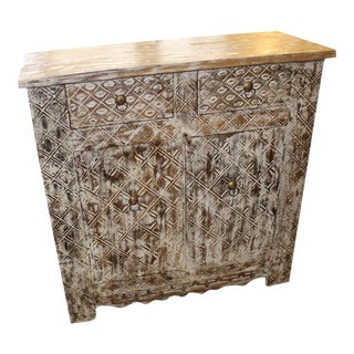 Vintage Farmhouse White Chest Sideboard For Sale