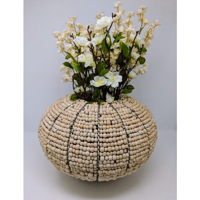 2000 - 2009 Tribal Fair Trade Beaded Vase For Sale - Image 5 of 10