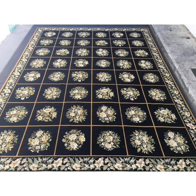Stark Floral Motif Area Rug - 11′2″ × 14′6″ - Image 3 of 10