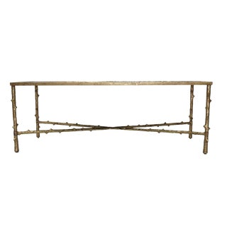 Mid-Century Modern Rectangular Mirrored Top Coffee Table For Sale