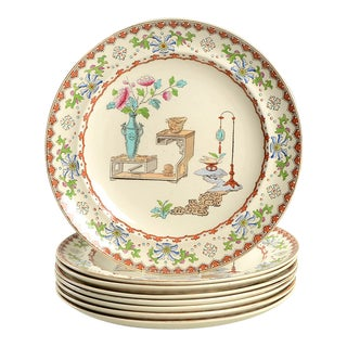 Spode Canton Dinner Plate - Set of 8 For Sale
