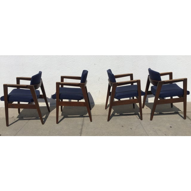 Vintage Navy Modern Chairs - Set of 4 - Image 3 of 11