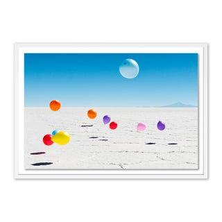 Uyuni Balloons by Richard Silver in White Frame, Medium Art Print