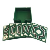 Image of Bungalow 5 Sassoon Coaster Set of 7 For Sale