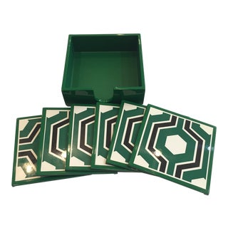 Bungalow 5 Sassoon Coaster Set of 7 For Sale