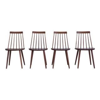 Yngve Ekström Swedish Spindleback Teak Dining Chairs - Set of 4 For Sale