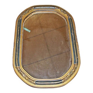 Small Gilt and Black Mirror For Sale