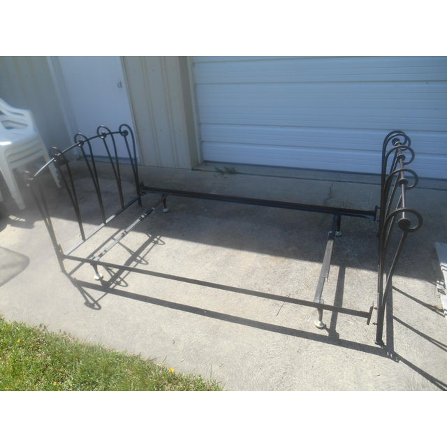 Wrought Iron Sleigh Twin Bed Frame - Image 8 of 10