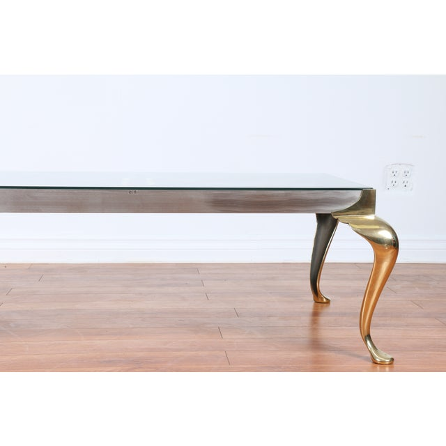 Brass Coffee Table With Glass Top - Image 5 of 10