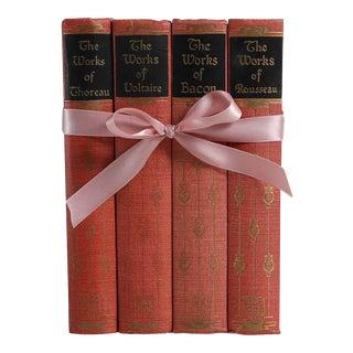 Vintage Book Gift Set: Blush Philosophy Classics, S/4