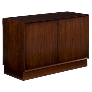 Scandinavian Mid Century Modern Rosewood Low Cabinet Circa 1970s For Sale
