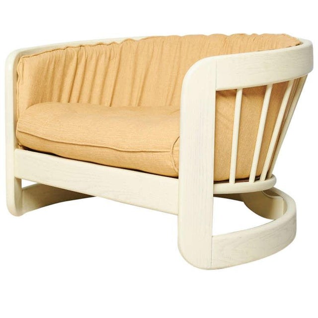 Milo Baughman Style White Lacquer Lounge Chair - Image 1 of 6