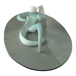 20th Century Abstract Figural White Lacquer Coffee Table For Sale