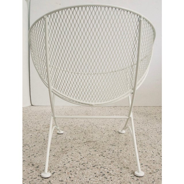"John Salterini Salterini ""Clamshell"" White Patio Side Chair For Sale - Image 4 of 7"