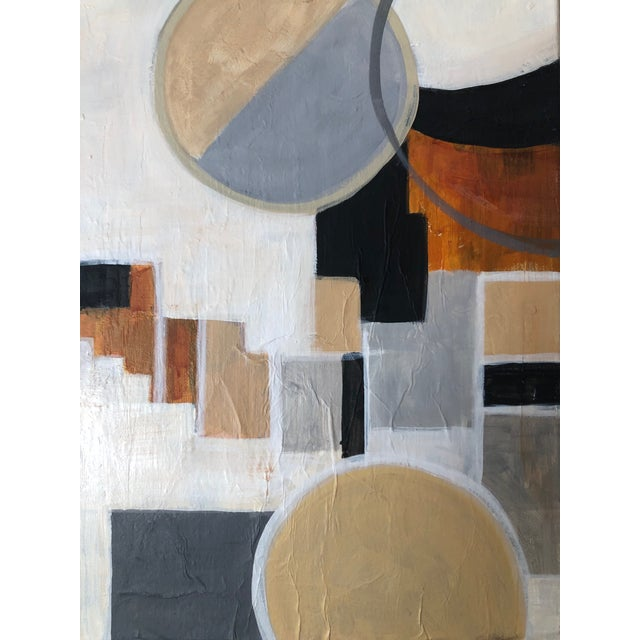 Modern Contemporary Modernist Shapes Abstract Acrylic Painting For Sale - Image 3 of 8