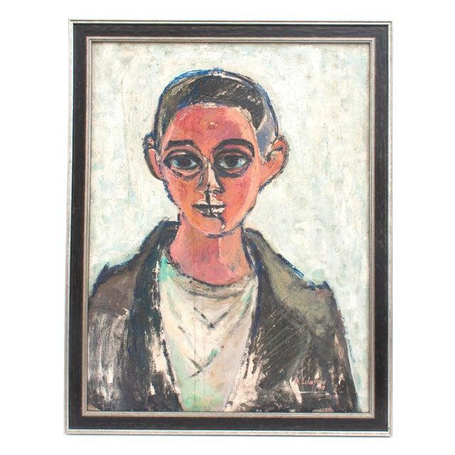 Vintage Framed Portrait of Man For Sale - Image 4 of 4