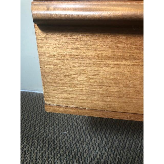 Mid Century Modern Teak Desk or Vanity For Sale - Image 11 of 13