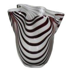 Vintage Mid Century Modern Ribbon Vase For Sale