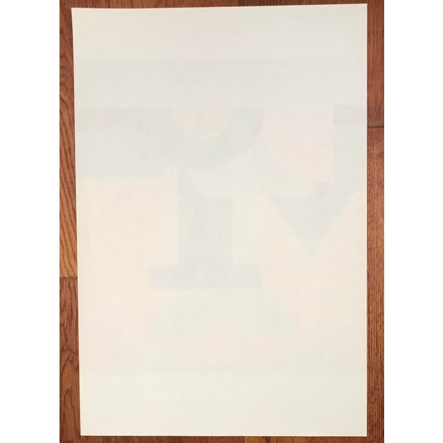 Orange Josua Reichert Lithograph in the Plate Typographic Composition For Sale - Image 8 of 9
