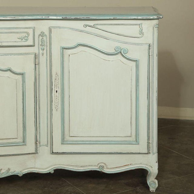 Wood Antique Country French Painted Buffet For Sale - Image 7 of 10