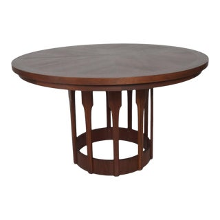 Mid Century Modern John Keal for Brown Saltman Sculptural Walnut Dining Table For Sale