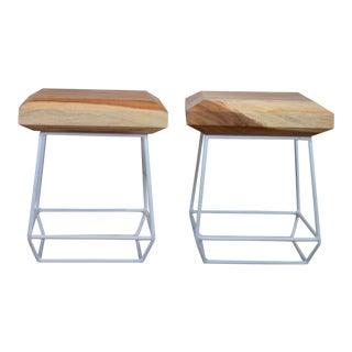 Selamat Teak Side Tables - A Pair For Sale