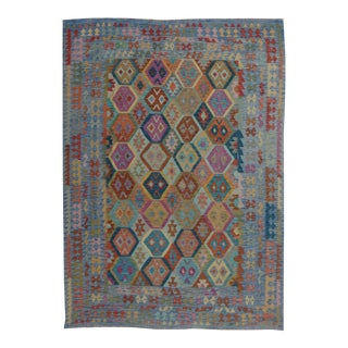 Aara Rugs Inc. Hand Knotted Natural Wool Maimana Kilim - 8′ × 11′