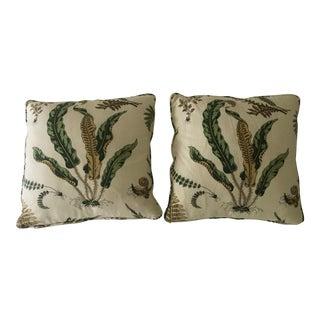 Scalamandre Elsie De Wolfe Linen Pillows - a Pair For Sale