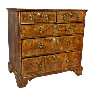 Charles II Walnut Chest of Drawers For Sale