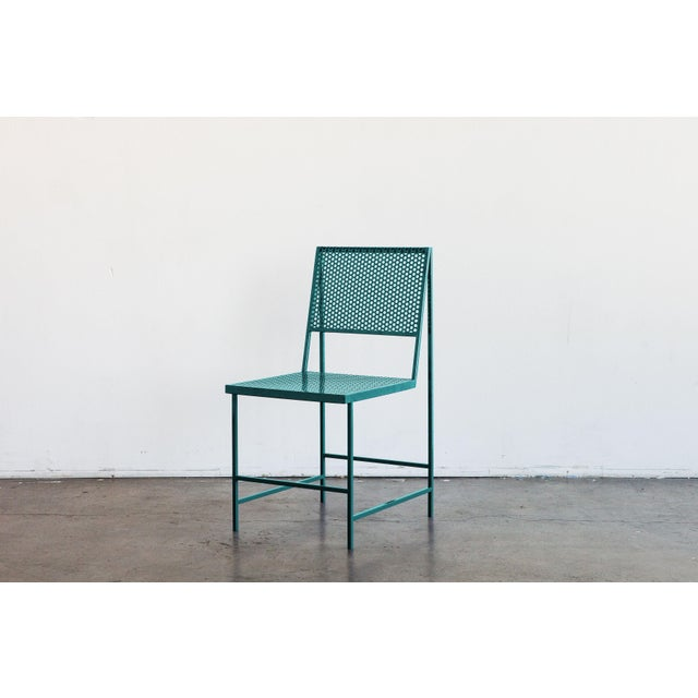 Not Yet Made - Made To Order Flux Dining Chair in Forest Teal by the Foreman Brothers For Sale - Image 5 of 6