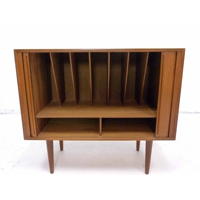 Danish Teak Record Cabinet by Povl Dinesen For Sale - Image 10 of 10