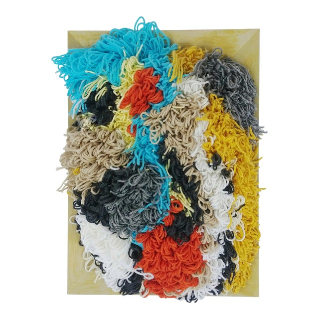 Contemporary Multicolor Fiber Tapestry For Sale