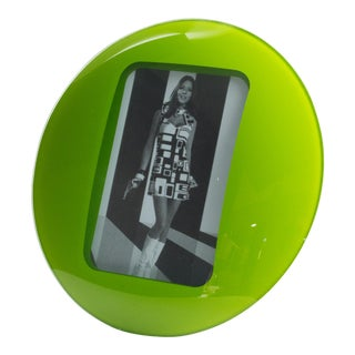 Space Age Green Glass Picture Frame For Sale