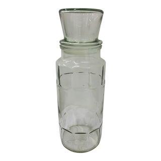 Vintage Mr. Peanut Glass Canister For Sale
