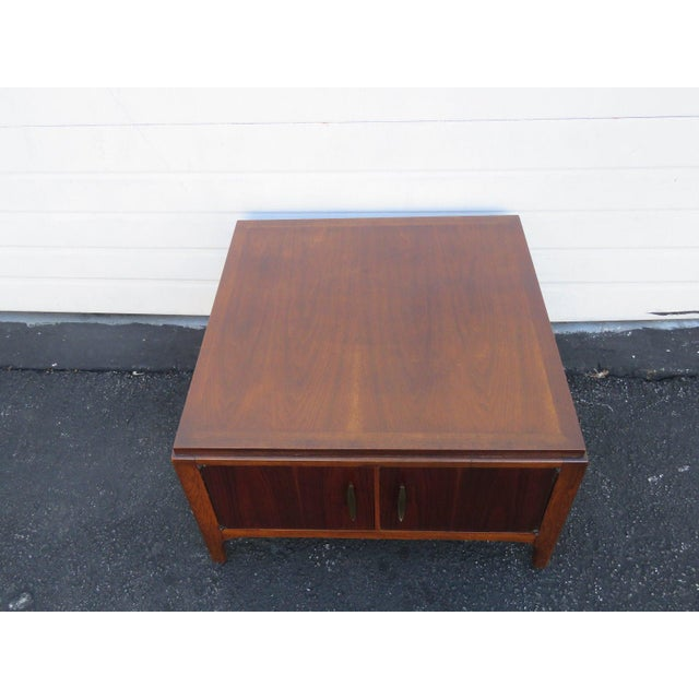 Mid Century Walnut Coffee Or Large Side Table With Cabinet By Lane Chairish