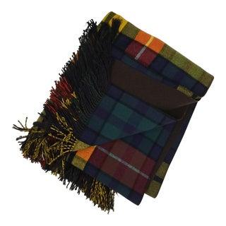 Classic Glen Plaid Wool Blend Blanket For Sale