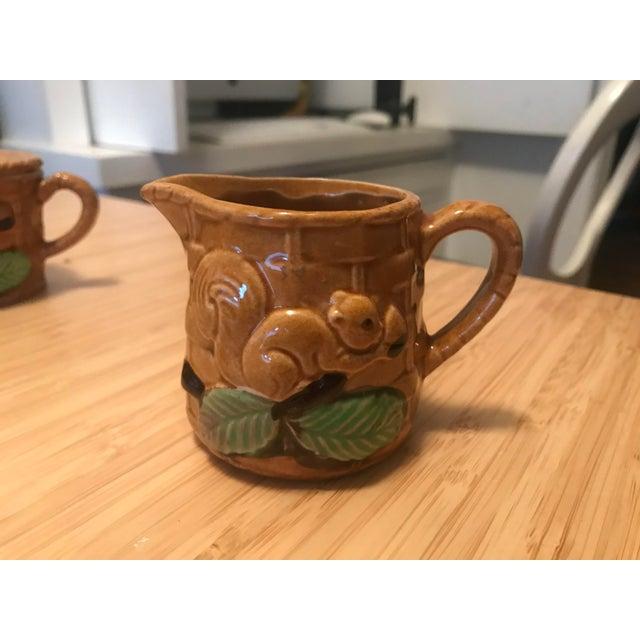 Vintage Squirrel Tea Set Japanese Pottery For Sale - Image 11 of 13