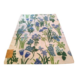 Vintage Crewel Fabric For Sale