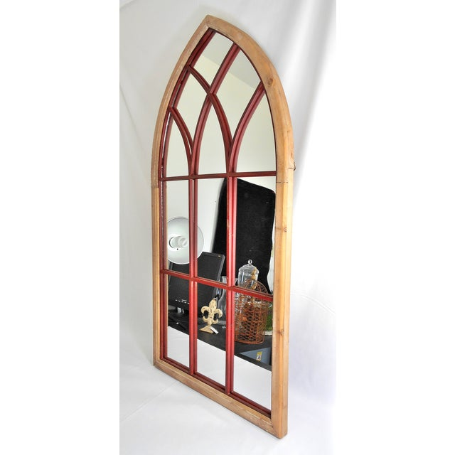 Gothic Cathedral Style Arched Wall Mirror - Image 2 of 4