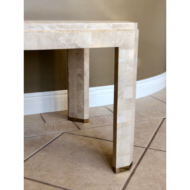 1970s 1970s Postmodern Maitland-Smith Tessellated Stone Side Table For Sale - Image 5 of 6