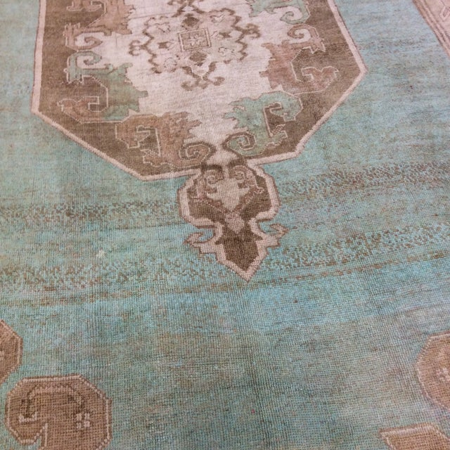 "Textile Turkish Anatolian Rug -6'6""x10'6"" For Sale - Image 7 of 13"