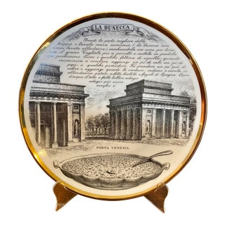 Mid 20th Century Fornasetti La Busecca Decorative Plate For Sale