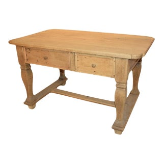 Dutch Oak Two-Drawer Desk, 19th Century For Sale