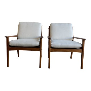 Danish Lounge Chairs in Solid Teak- Single For Sale