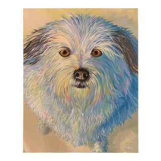 """Audrey Heffner """"Katie in the Morning"""" Portrait of a Dog Painting For Sale"""