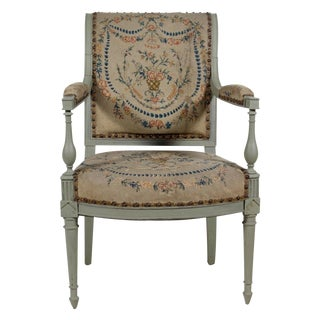 Painted Open Arm Directoire Chair For Sale