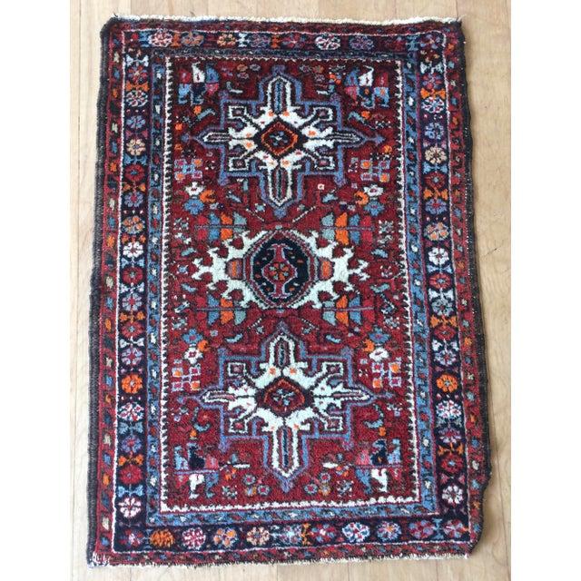 Islamic 1930s-1940s Karaja Persian Mat For Sale - Image 3 of 13