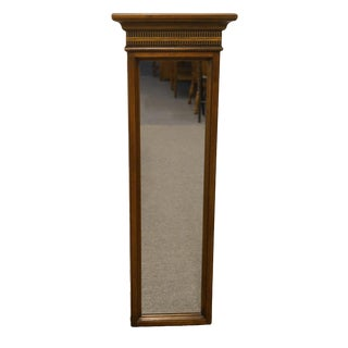 Antique Brandt Furniture Italian Neoclassical Cherry Wall Mirror For Sale