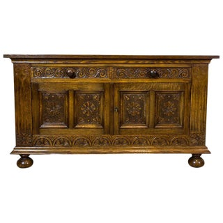 19th Century Neo-Renaissance Oak Cabinet or Sideboard For Sale