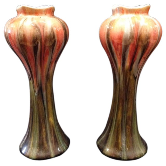Art Nouveau Belgian Vases - a Pair For Sale In New Orleans - Image 6 of 6